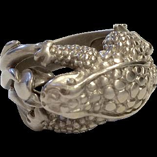 Kieselstein Cord 18K Frog Ring
