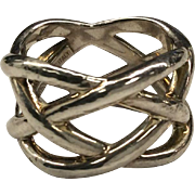 Tiffany & Co. Silver Woven Band Ring