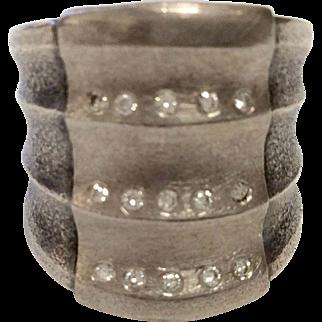 Sterling Silver Diamond Ring by Zobel