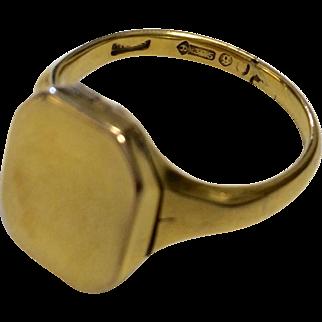 9K Deco Signet Locket Ring