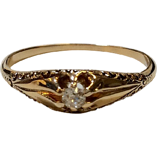 Late Victorian Diamond Ring 1890's
