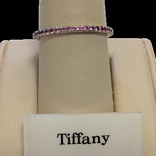 Tiffany & Co. 18K Pink Sapphire Band