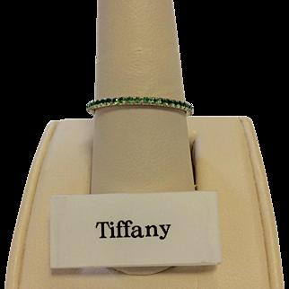 Tiffany & Co. 18K Emerald Band