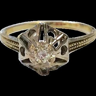 14K 1930's Diamond Ring