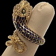 18K Enamel Snake Ring