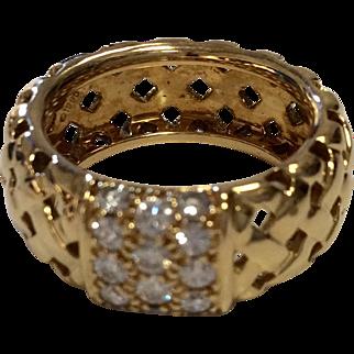 Tiffany & Co. 18K Woven Diamond Band
