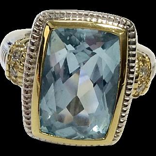 Judith Ripka Blue Topaz Ring