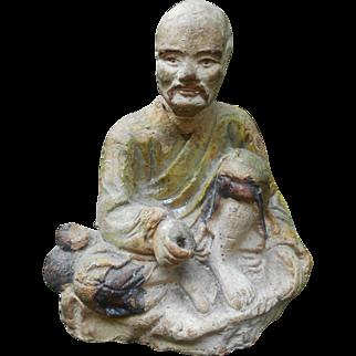 Ming Style Ceramic Fisherman