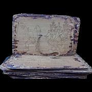 Miniature Burmese Palm Leaf Astrology Manuscript