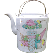 Chinese Multicolor Porcelain Teapot