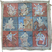 Cloth Painting of the Burmese Days of the Week