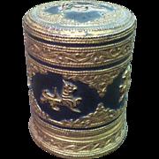 Burmese Cigarette Box With Thayo Decoration