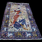 Herat Pictorial Carpet, Layla and Majnun