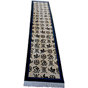 Wool Runner With Chinese Characters and Symbols