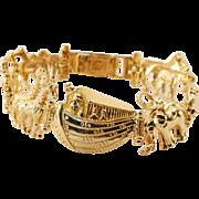 Vintage 10k Gold Noahs Ark Bracelet
