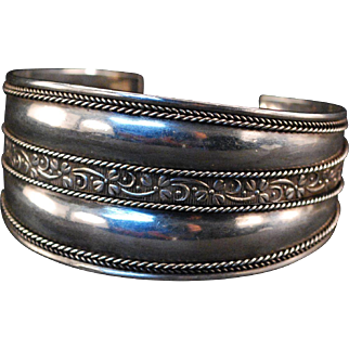 Sterling Silver Fashion Cuff Bracelet