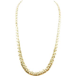 Beautiful 18k Gold Progressive Byzantine Necklace