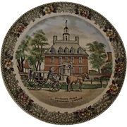 Governor's Palace Williamsburg Virginia Collector Plate -Staffordshire Ware