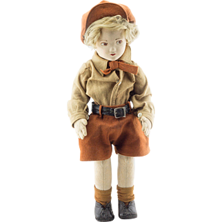 Norah Wellings - Norene boy doll with hat