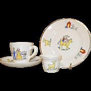 Stavangerflint Norway child's porcelain dishes