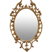 Magnificent 19th Century Hand Carved Gilded Frame Mirror c.1890's