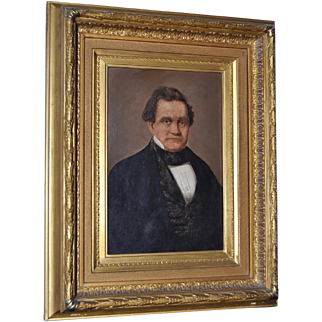 19th Century Oil Portrait in Gilded Frame