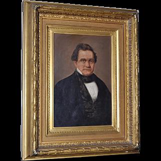 19th Century Oil Portrait in Gilded Frame