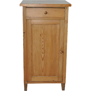 French Country Pine Accent Table Cabinet 19th c.