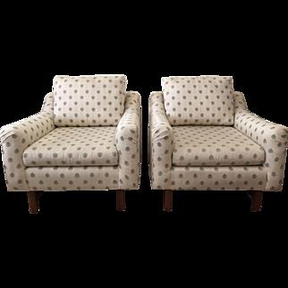 Dunbar Club Chairs with Ottoman