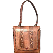 Vintage Handed Tooled Leather Purse