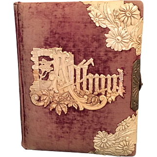1893 Antique Christmas Photo Album - 2 Photos