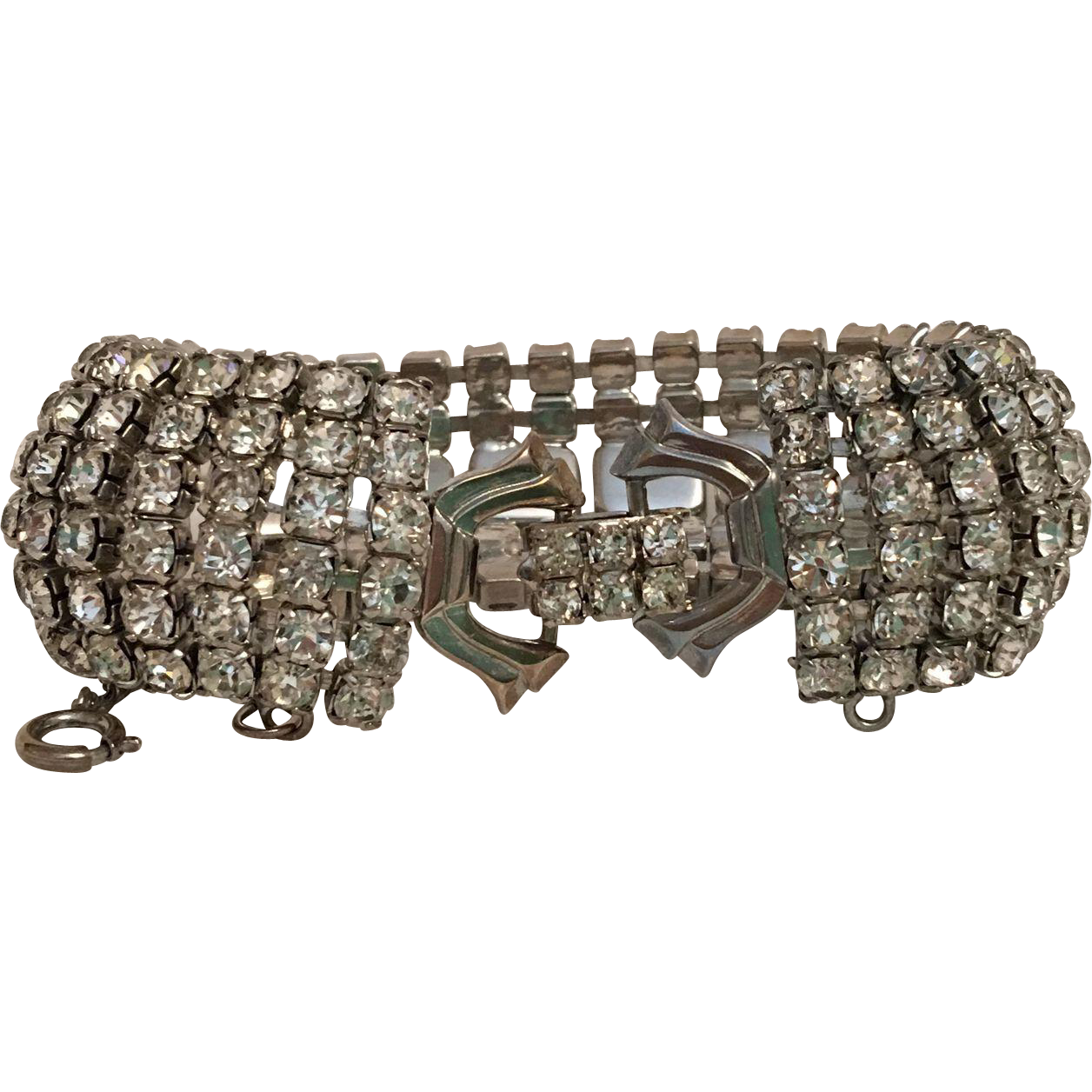 Vintage Weiss Rhinestone Bracelet from lorrainesantiques on Ruby Lane