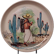 HAND PAINTED BAUER PLATE BY MEXICAN ARTIST GALAN