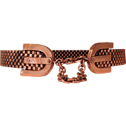 Reniou Copper Basketweave Belt - Small - Red Tag Sale Item