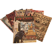 "Collection of Six 1944 ""The New Yorker"" Magazines Overseas Edition for Armed Forces"