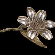 Plame Spain Silverplate Ashtrays- Flower Centerpiece with Hidden Petal Ashtrays