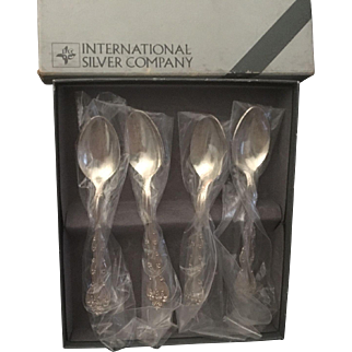 International Silver Company Demitasse Spoons - Set of 4