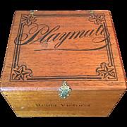 Late 1800's Wood Cigar Box - Union Label