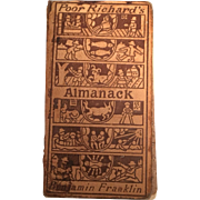Poor Richard's Almanack - Benjamin Franklin -Copyright 1898