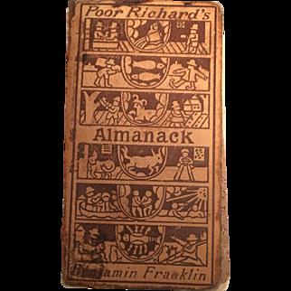 Poor Richard's Almanack - Benjamin Franklin -Copyright 1898