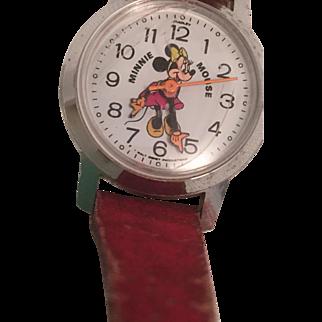 Bradley Minnie Mouse Watch - Winding Stem