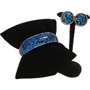 Matisse Enamel Bangle Bracelet and Earrings
