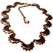 Vintage Renoir Copper & Black Necklace