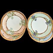 Antique Sevres Dessert Plates, Set of Four, Artist Signed