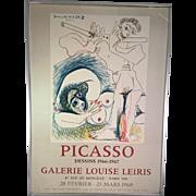 Picasso Dessins 1966-1967 Galerie Louise Leiris Lithograph/Poster