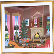 "Thomas McKnight ""Christmas in Connecticut"" Serigraph on Paper Hand Signed 98/175"