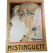 Huge Mistinguett Poster by Charles Gesmar, 1925, paris