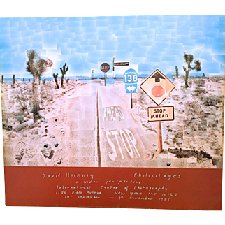 "David Hockney Poster for Photographic Exhibition 1986 ""Pear Blossom Highway"