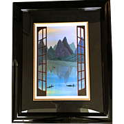 """China Mountains"" Fanch Ledan, Signed and Numbered Serigraph"