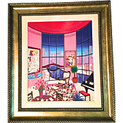 Fanch Ledan Canvas Embellished Giclee Interior with Litchtenstein